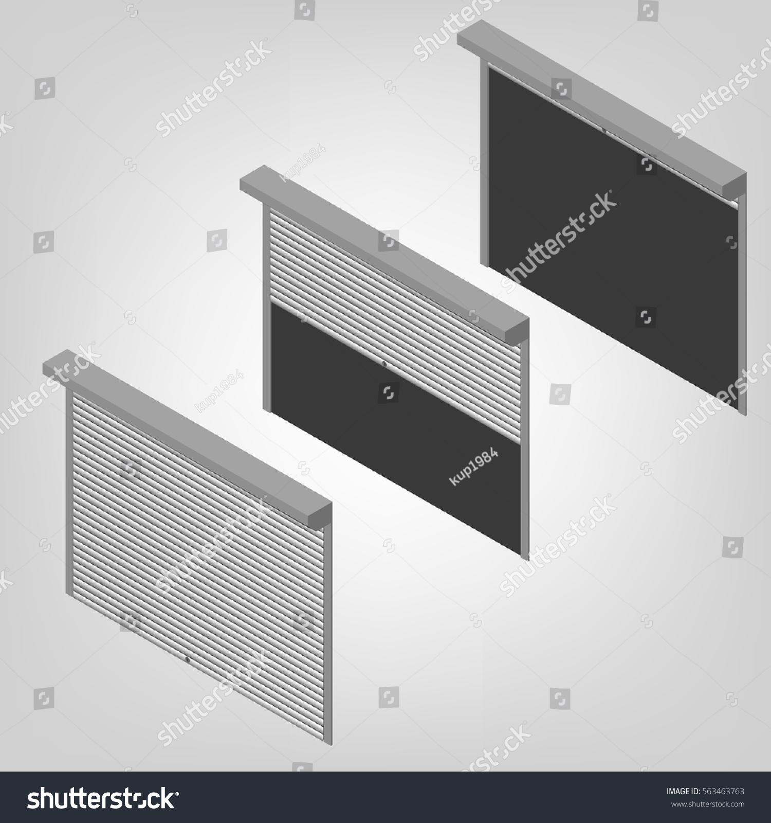 Steel Security Shutters Windows Doors Garage Royalty Free