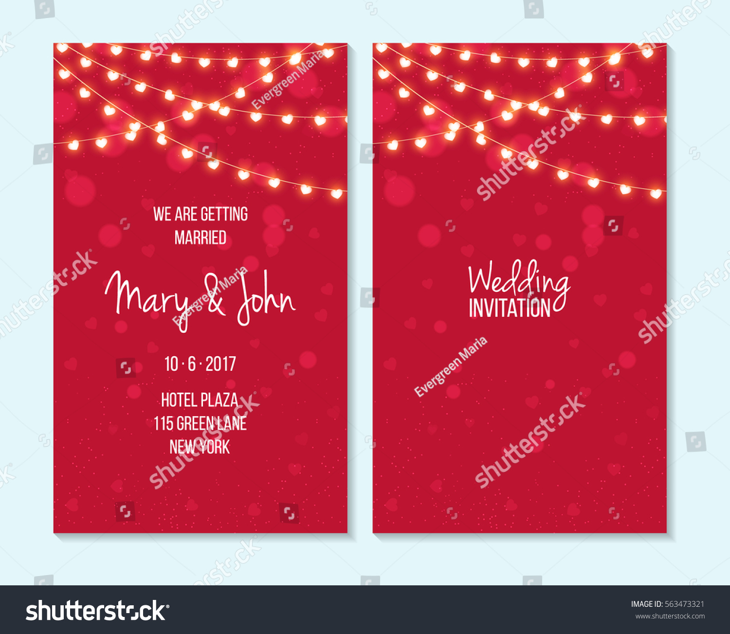 Wedding Invitation Thank You Card Save Stock Vector (Royalty Free ...