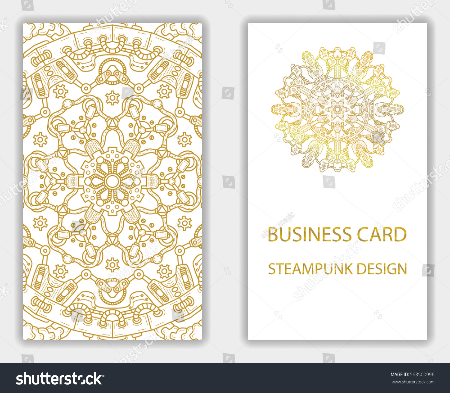 Business Card Steampunk Abstract Design Elements Stock Vector ...