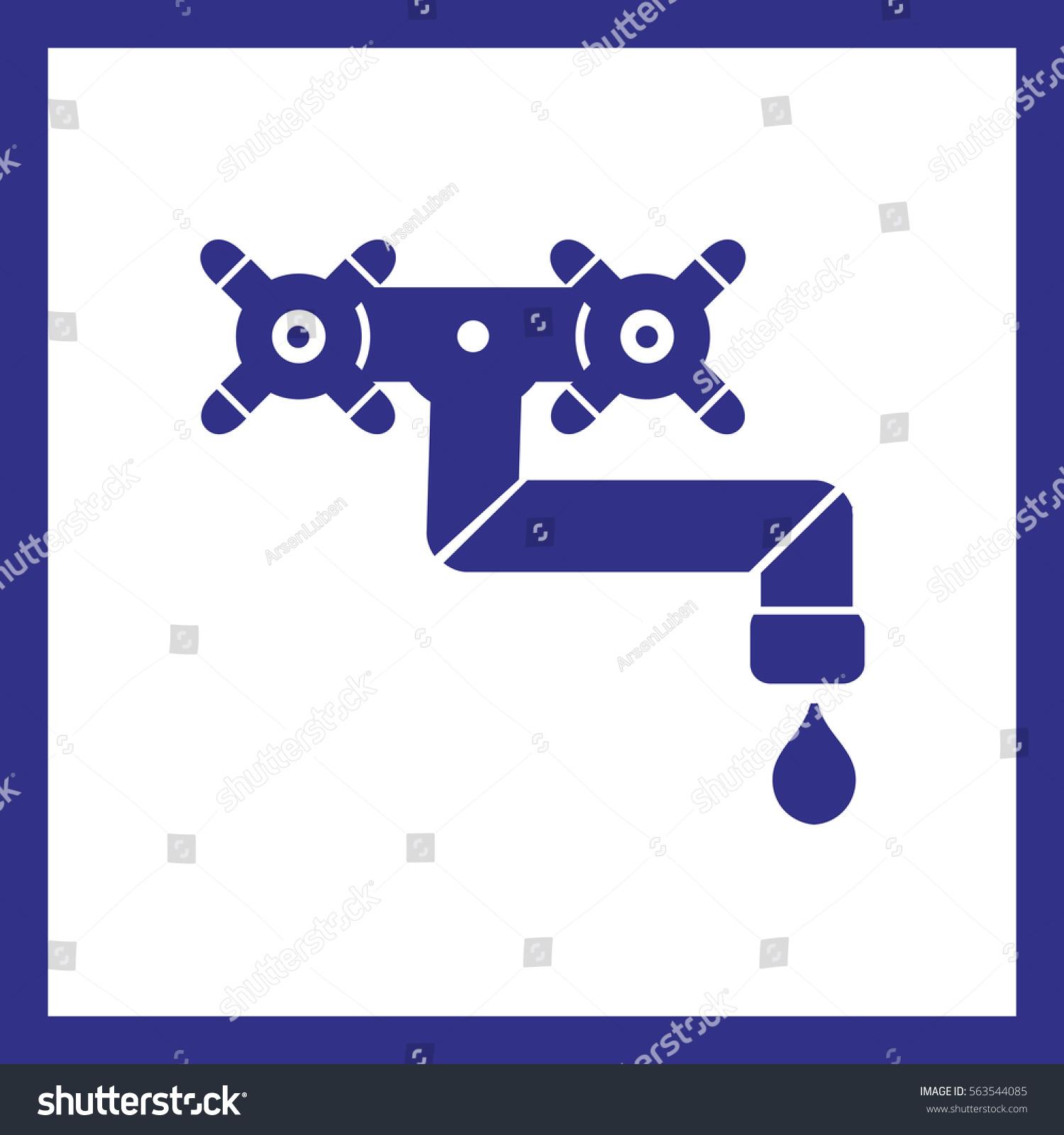 Water Faucet Vector Icon Stock Vector 563544085 - Shutterstock