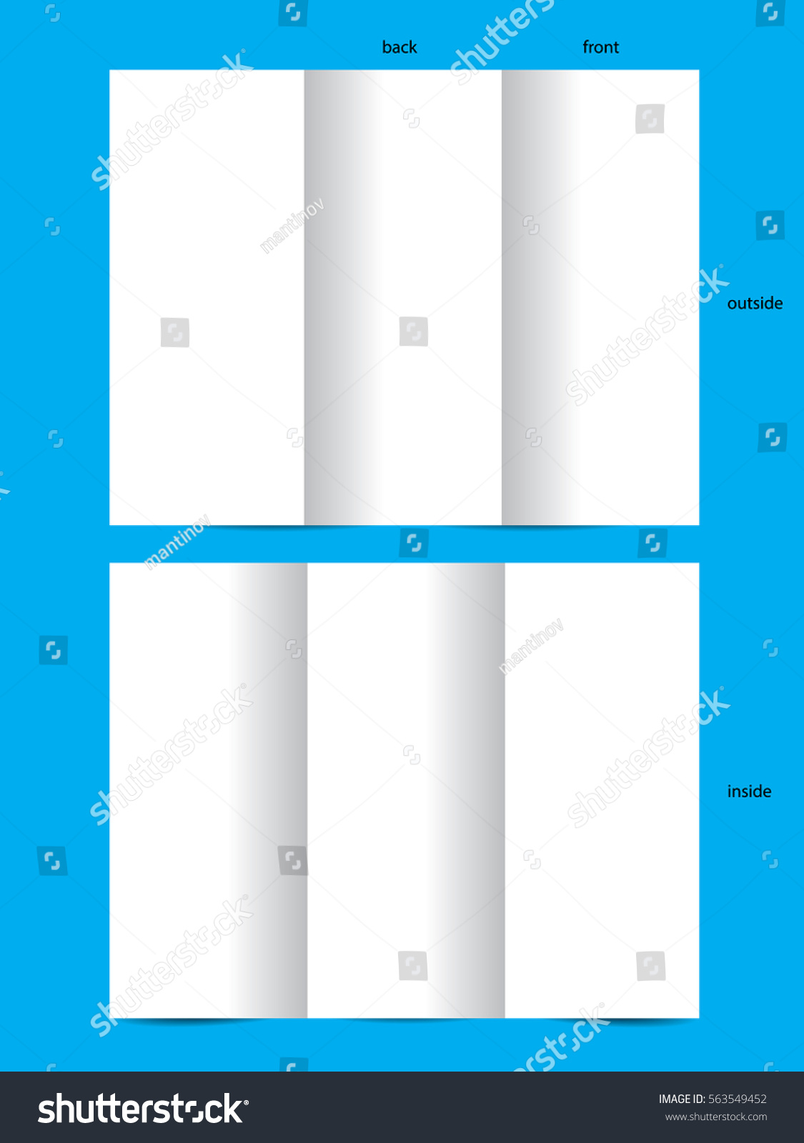 Blank Pamphlet Template Sample Resumes For Warehouse Jobs To Do Stock  Vector Blank White Trifold Template  Blank Pamphlet Template