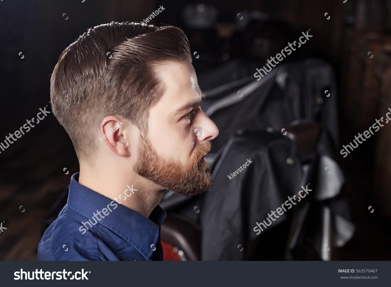 Man Barbershop Haircut Shave Men Cabin Stock Photo Image Royalty