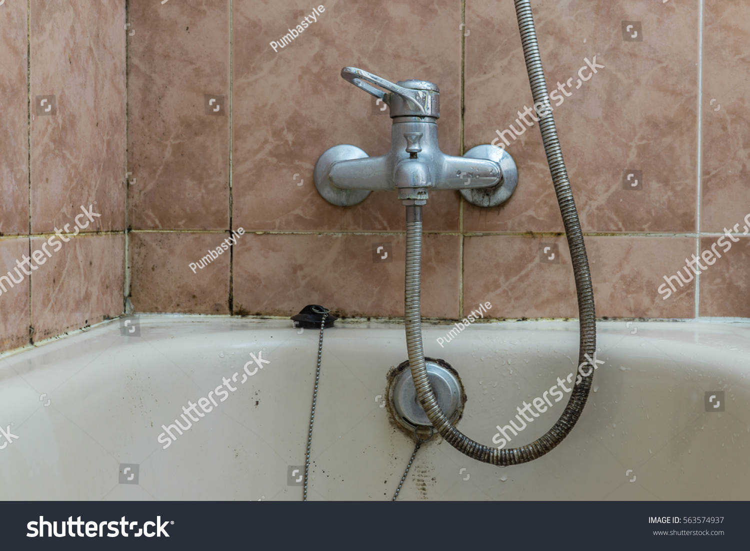 Faucet Lime Deposit Calcified Water Tiles Stock Photo 563574937 ...