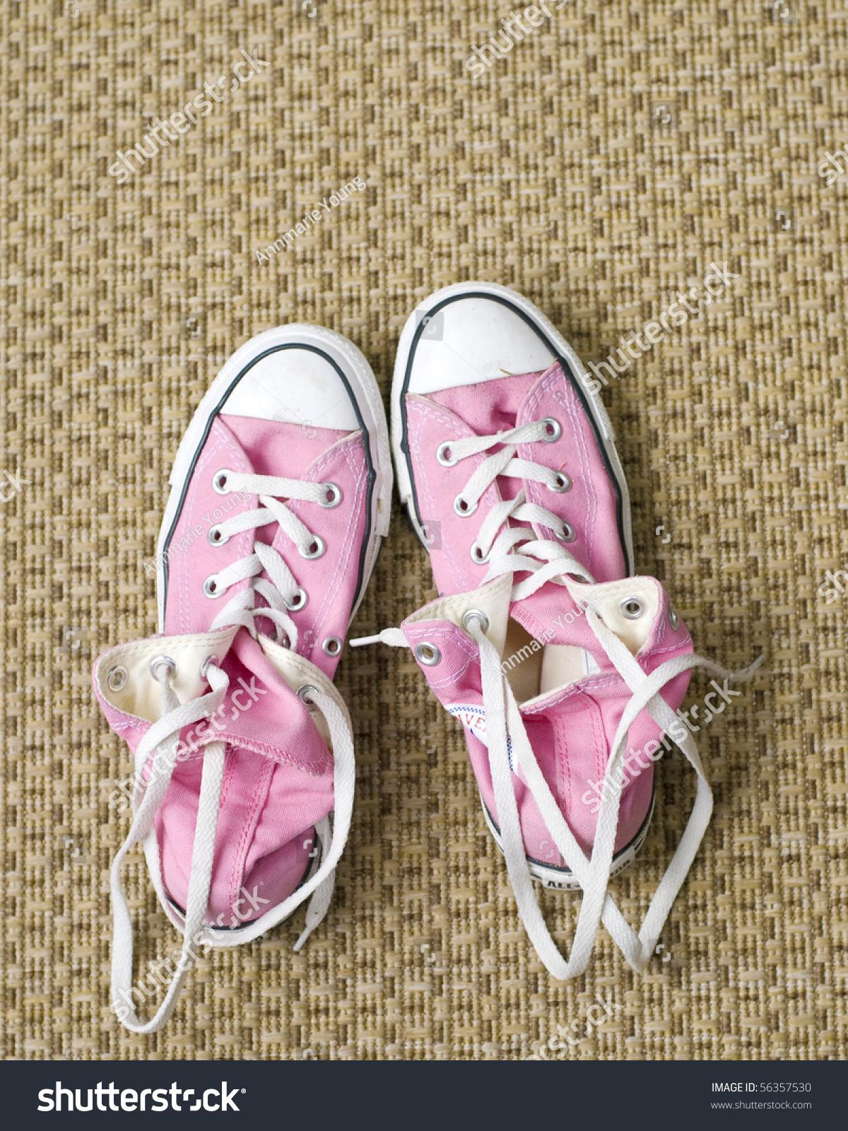 Pink Basketball Shoes Girls Stock Photo