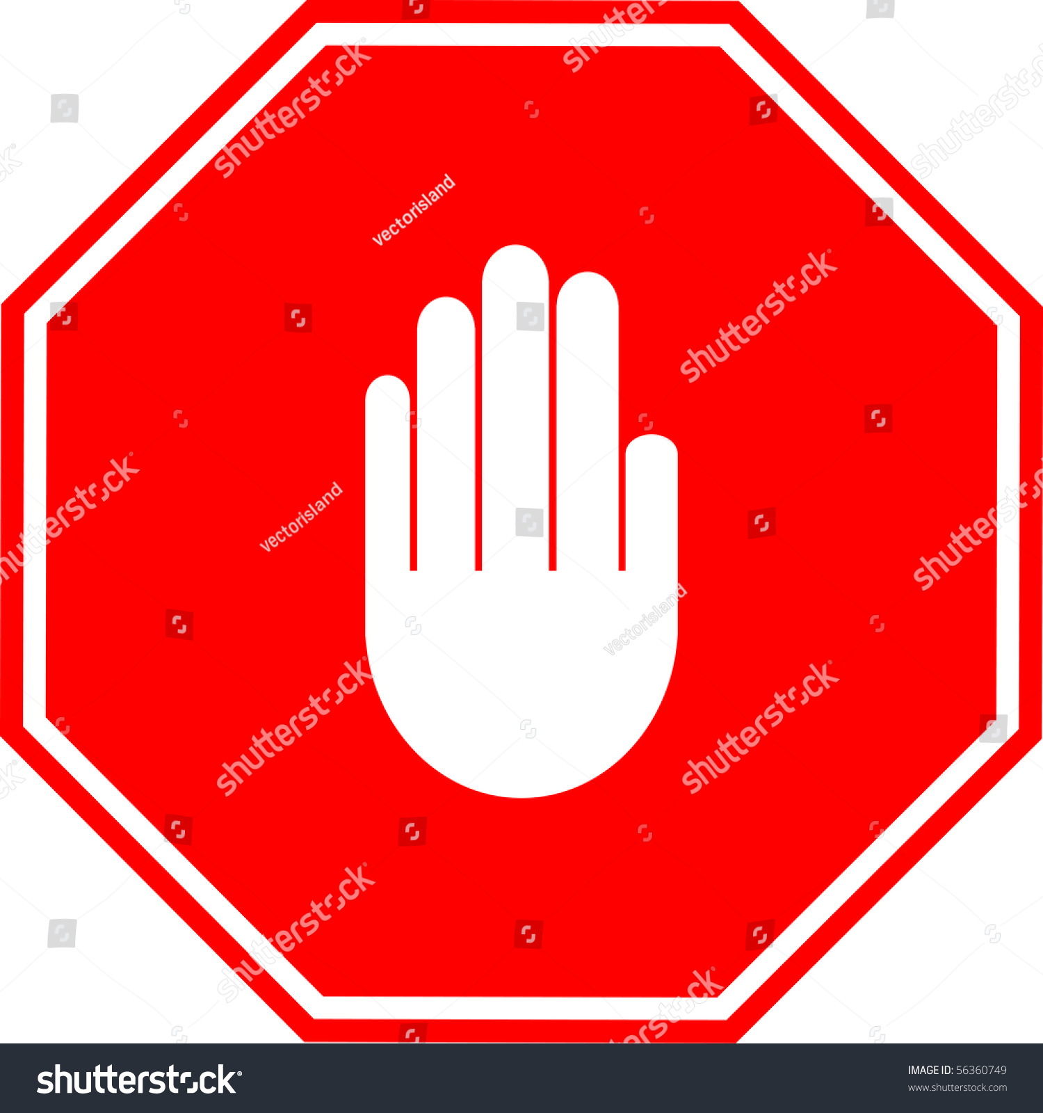 Hand Making Stop Signal Sign Stock Illustration 56360749 ...