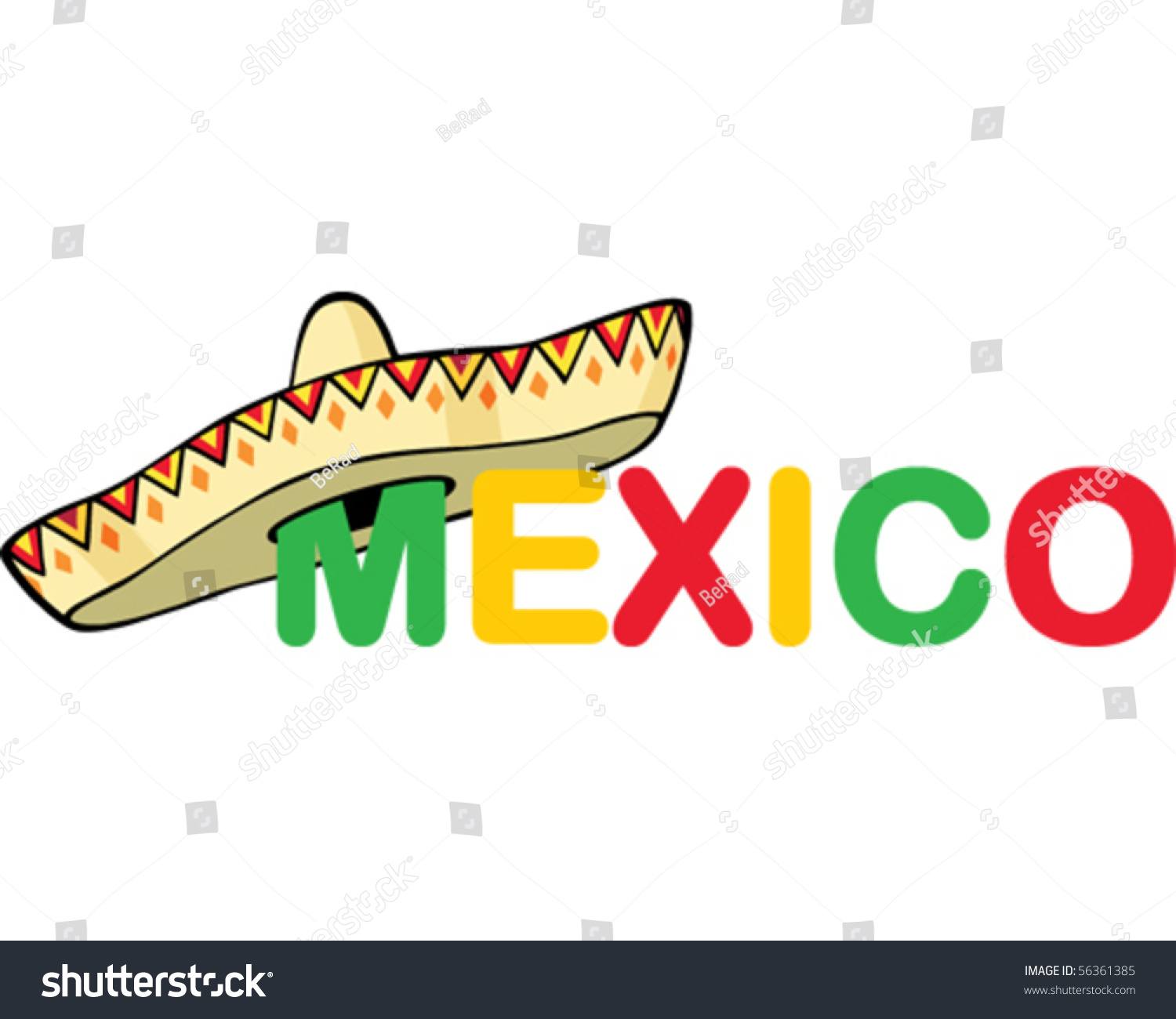mexico word stock vector 56361385   shutterstock