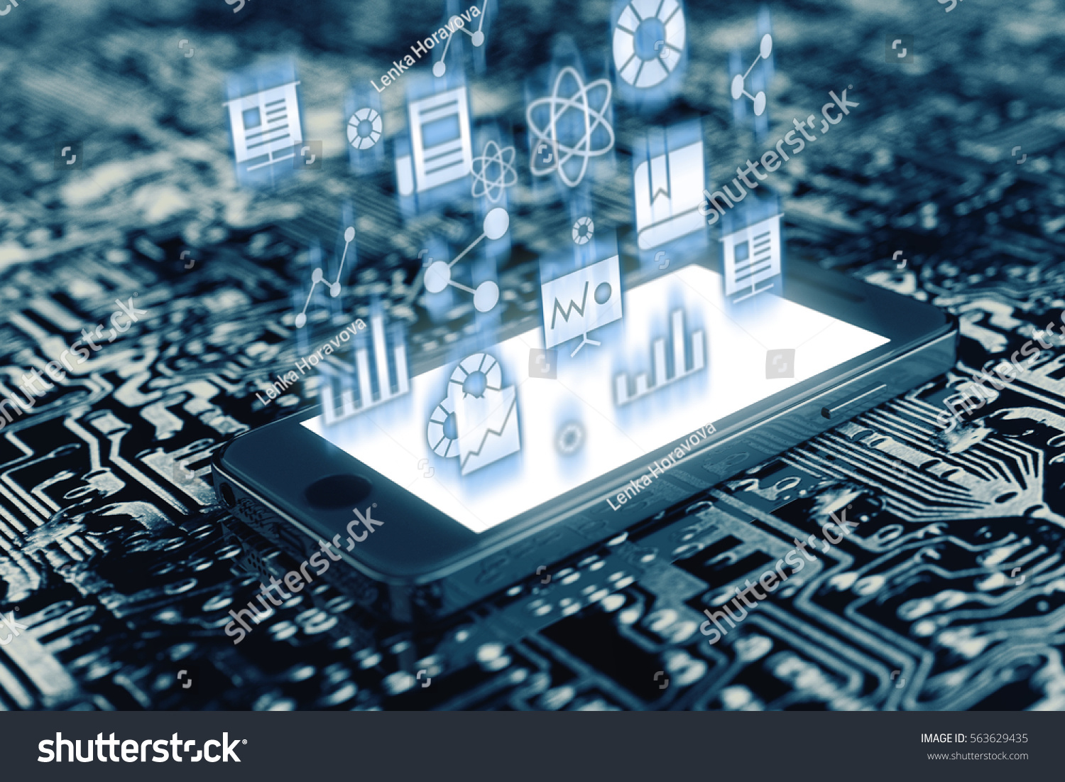 Royalty Free Stock Illustration of Smartphone On Circuit Board ...