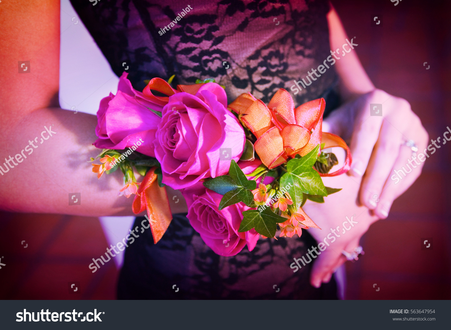 Beautiful Corsage Stock Photo Edit Now 563647954 Shutterstock
