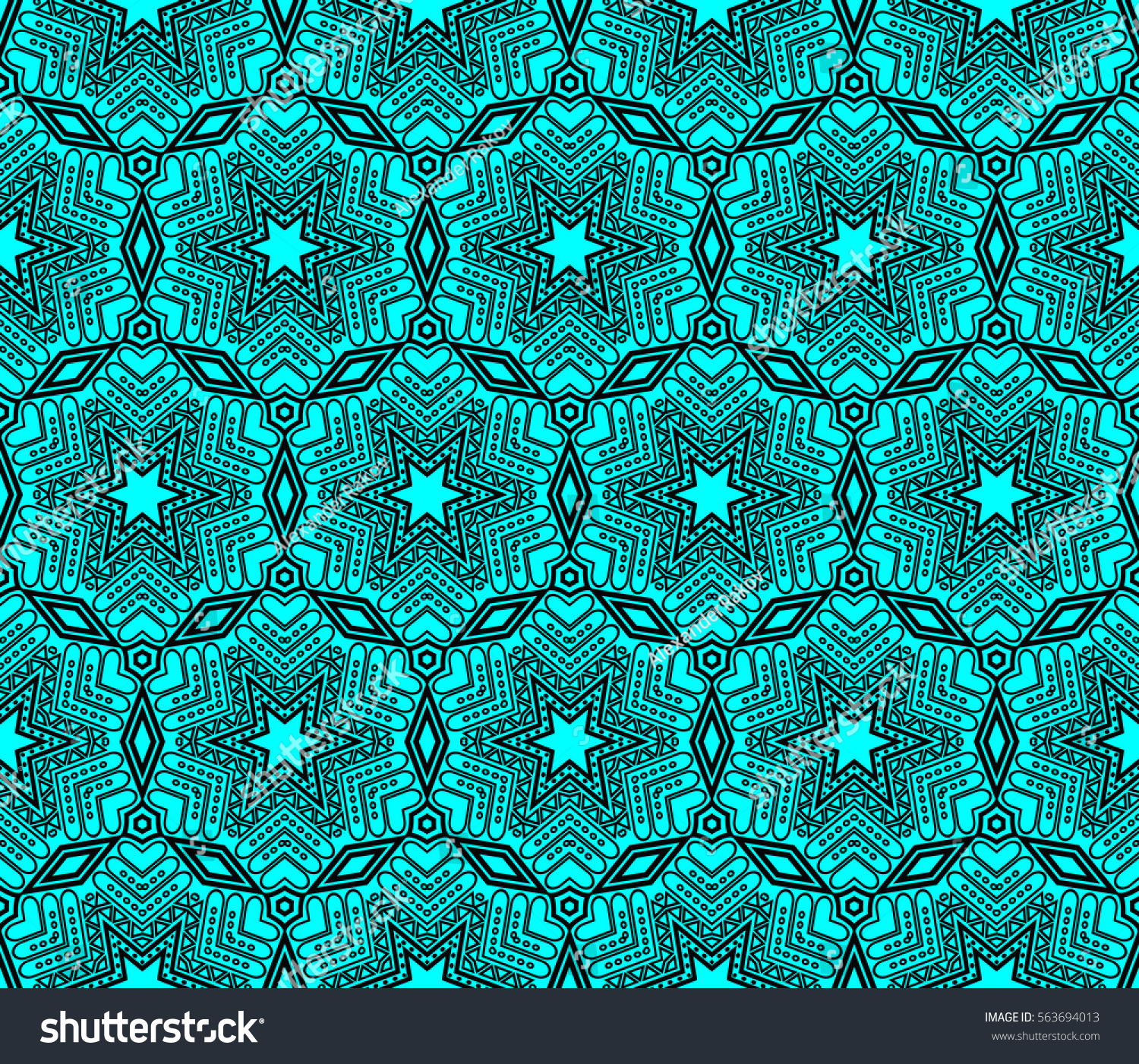 Modern geometric seamless pattern For design page fill wallpaper Raster copy illustration