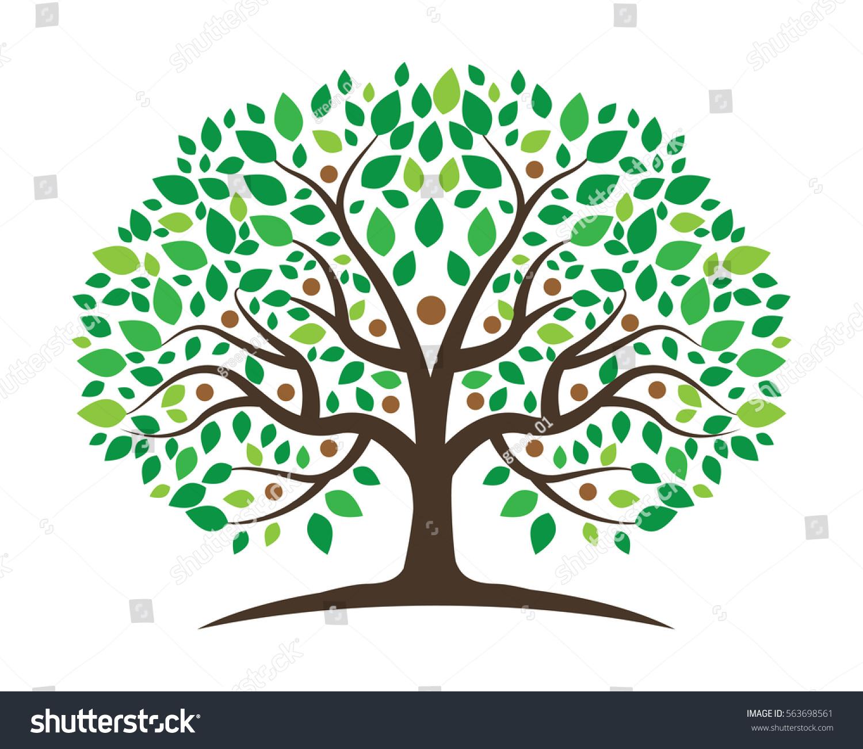 Family Tree Symbol Icon Logo Design Stock Vector Royalty Free