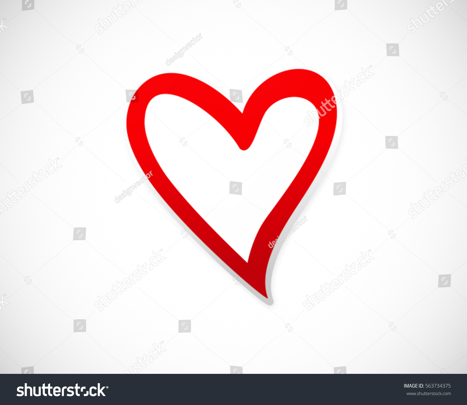 Love Heart Valentine Vector Logo Abstract Stock Vector ...