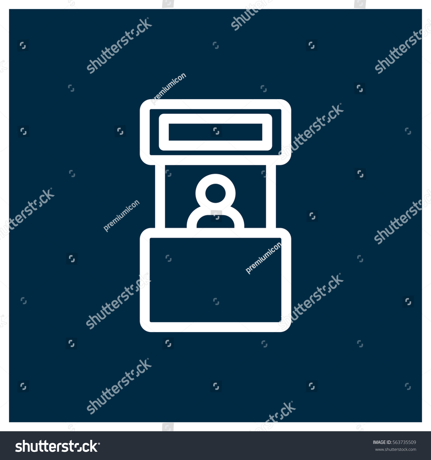 Simple Exhibition Stand Vector : Promo stand vector icon exhibition symbol stock