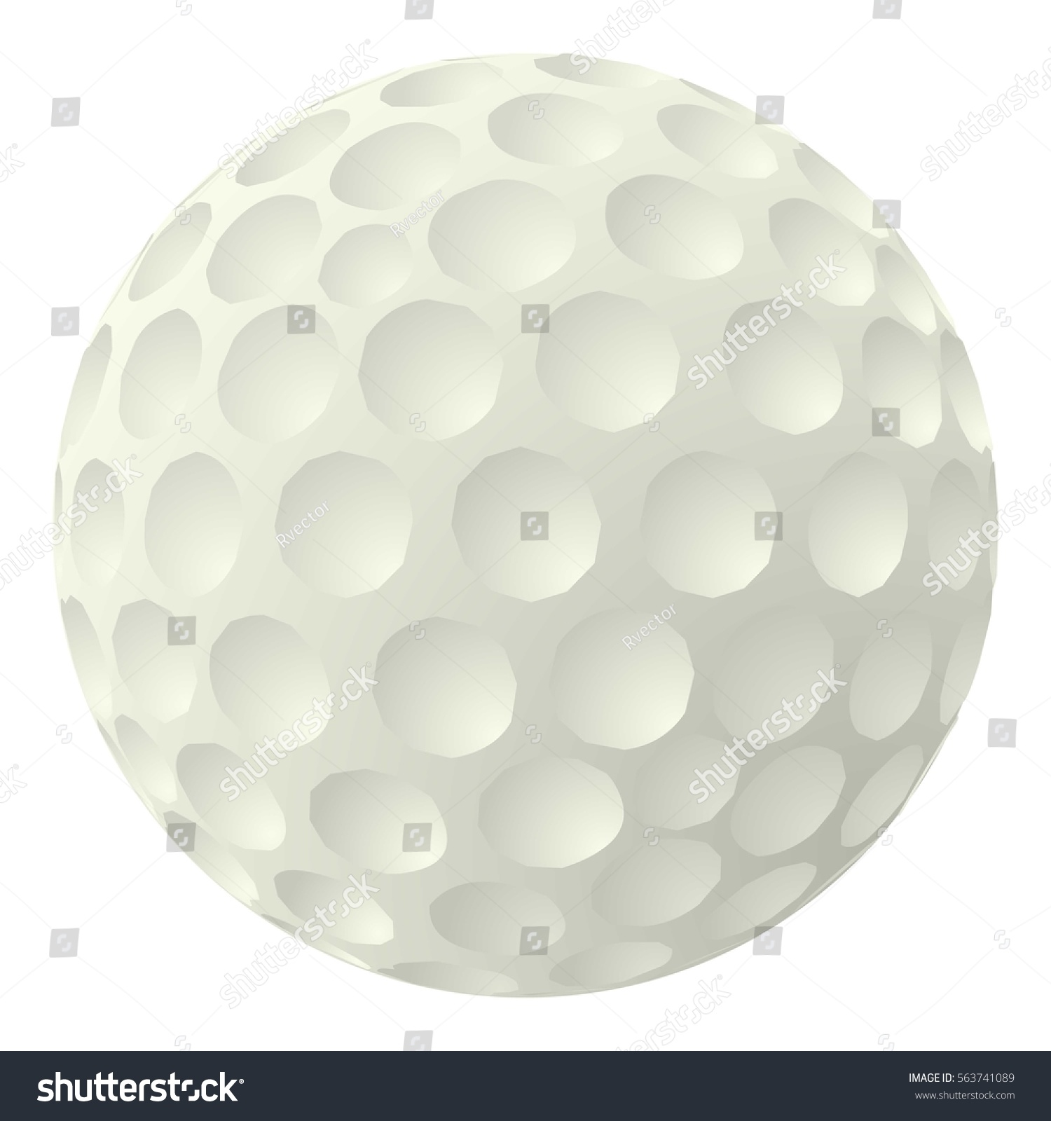 golf ball icon cartoon illustration golf stock vector 563741089