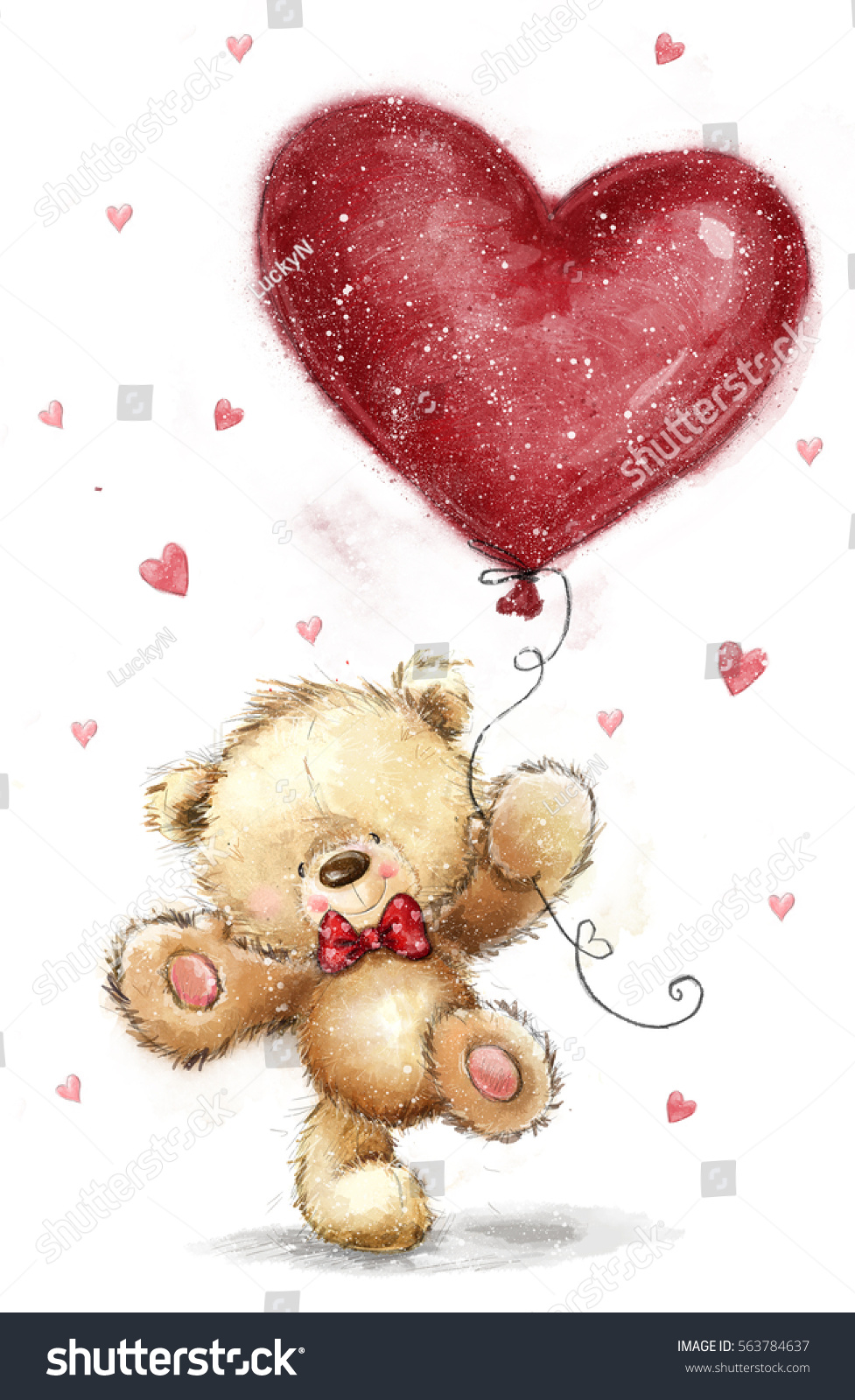 Cute bear big red heart love 563784637 shutterstock voltagebd Images