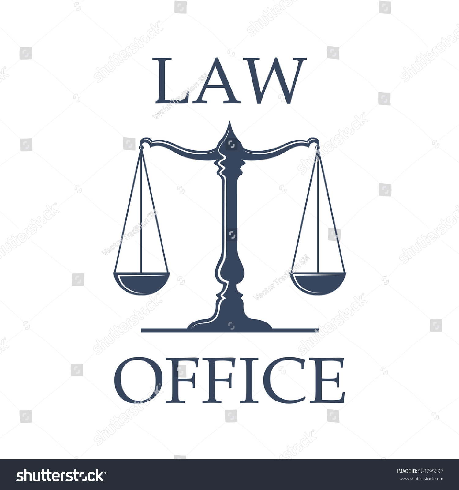 Law Advocate Office Vector Icon Scales Stock Vector Royalty Free