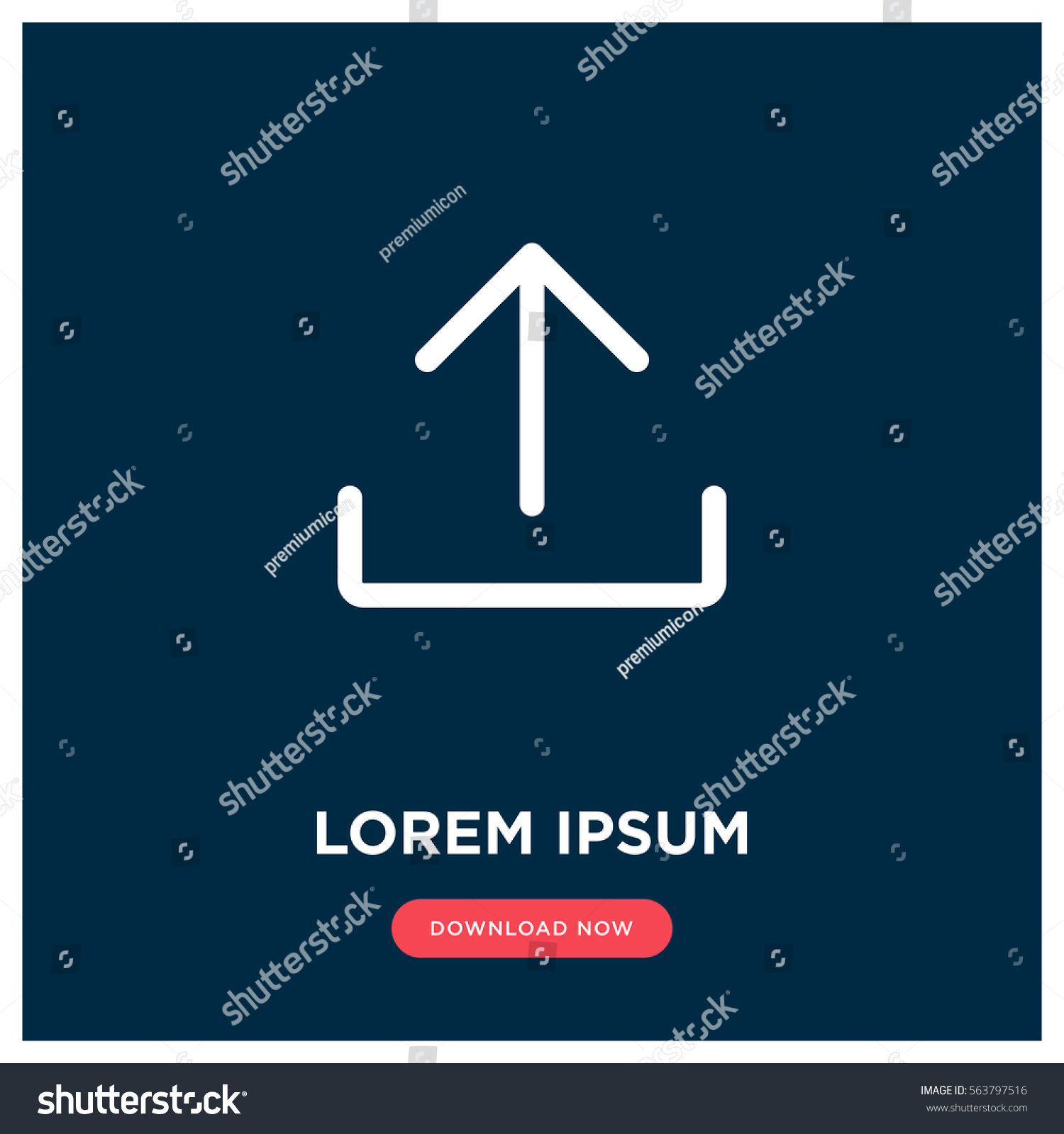 Upload vector icon add cloud symbol stock vector 563797516 upload vector icon add to cloud symbol modern simple flat vector illustration for biocorpaavc Gallery