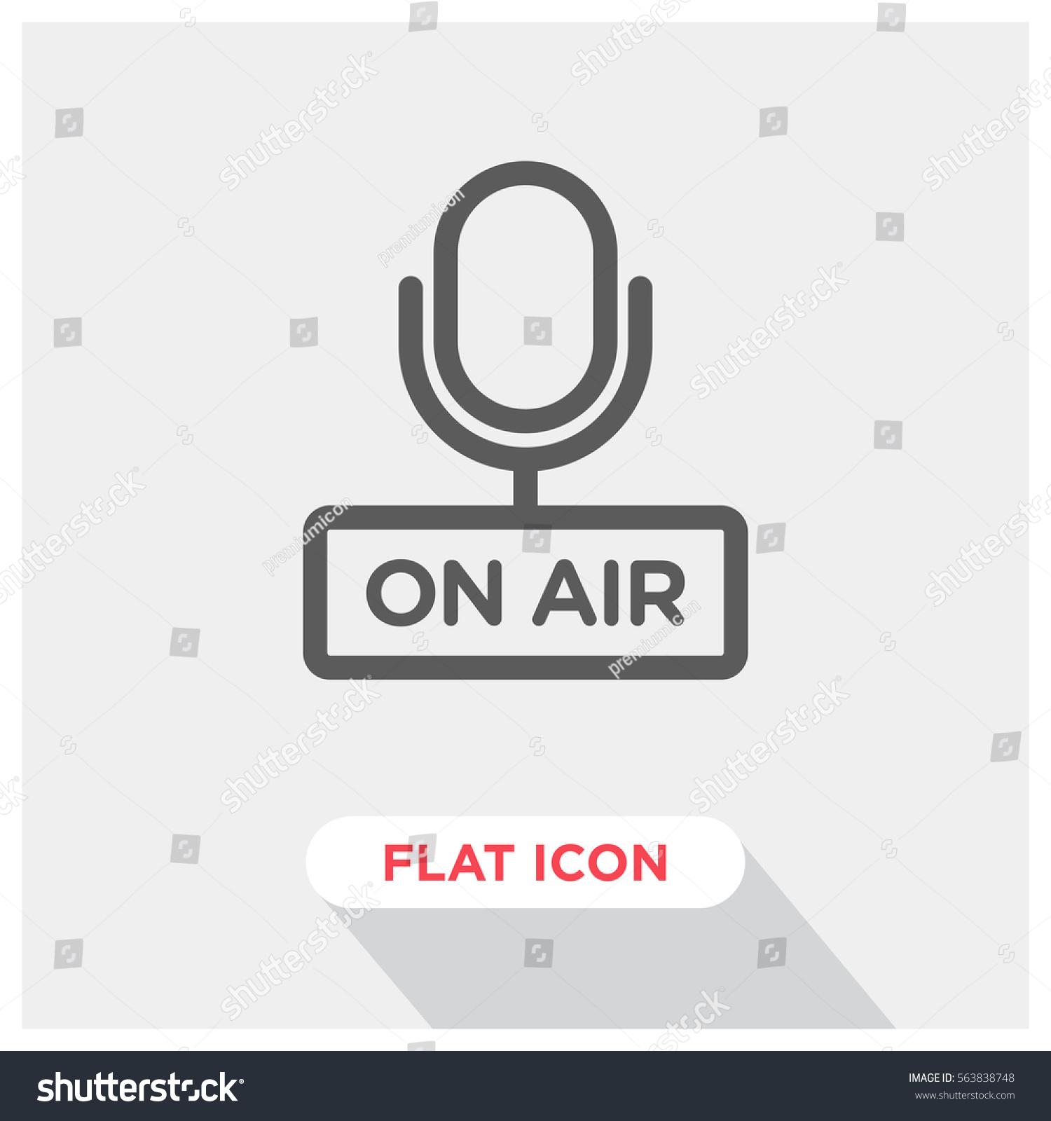 On Air Vector Icon Radio Symbol Stock Vector Royalty Free