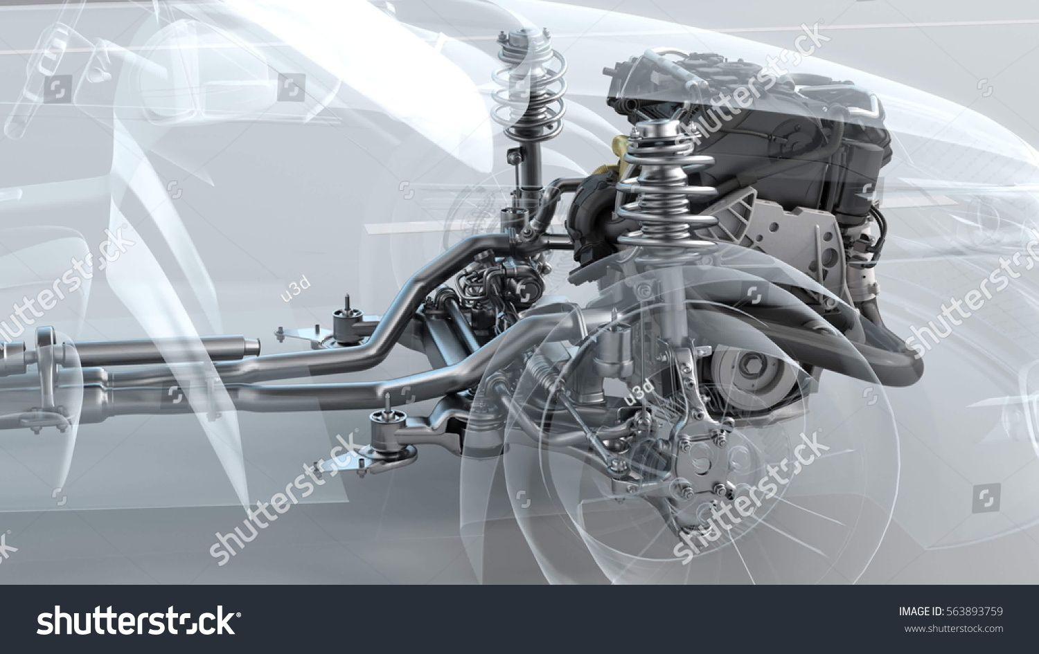 City Car Structure Overview During Driving Stock Illustration ...