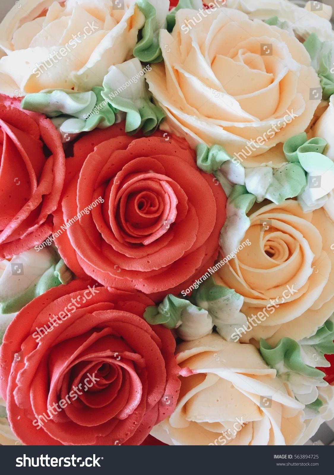 Rose Birthday Cake Stock Photo Edit Now 563894725 Shutterstock