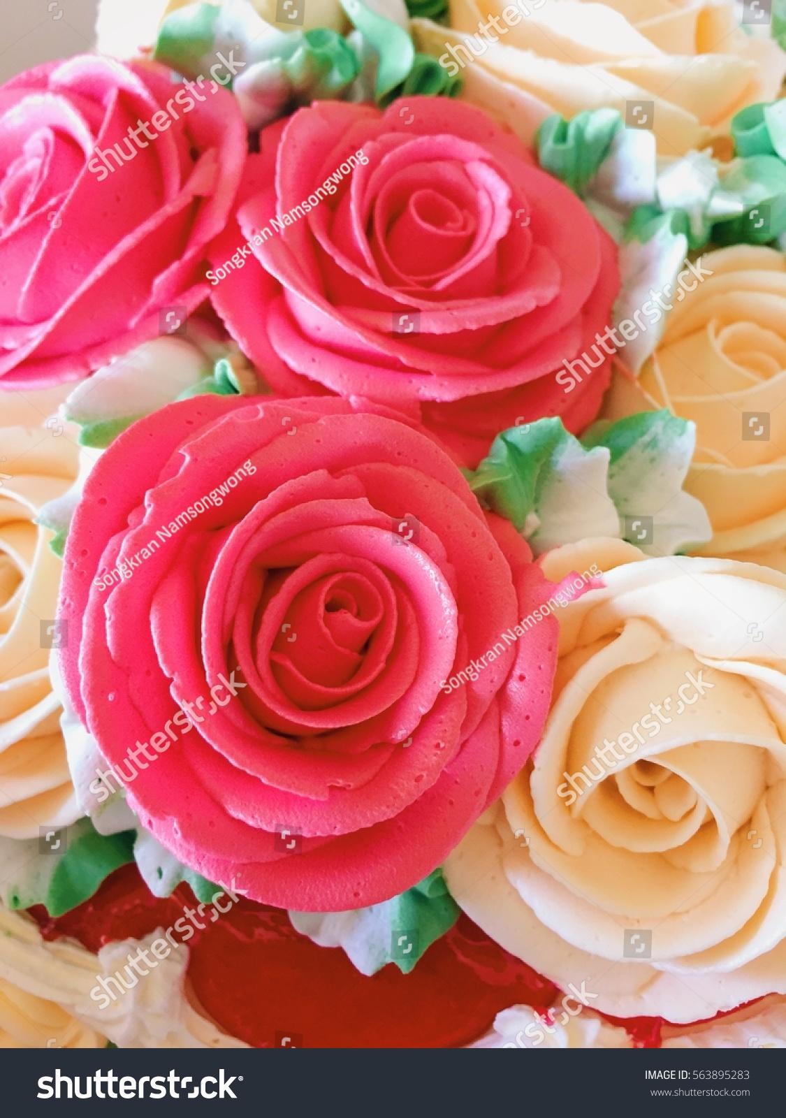 Rose Birthday Cake Stock Photo Edit Now 563895283 Shutterstock