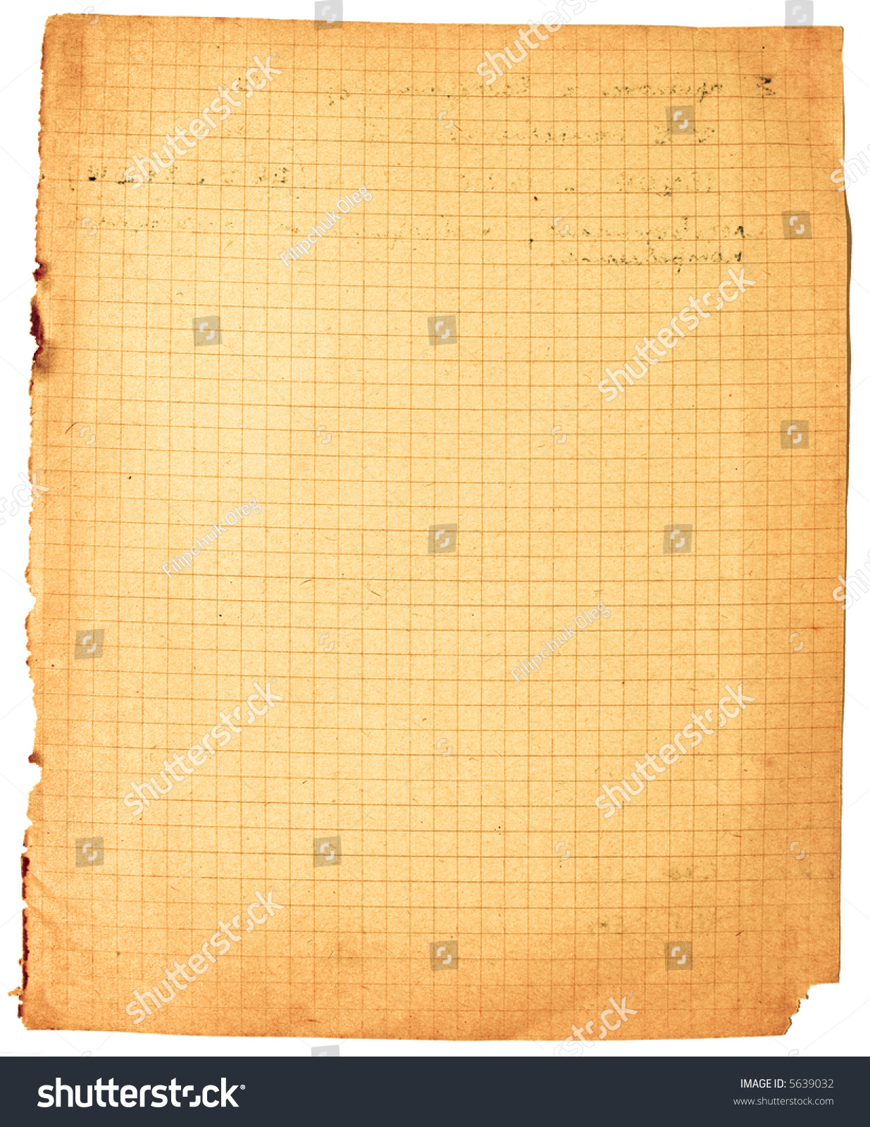old yellow uneven lined paper ragged stock photo (edit now) 5639032