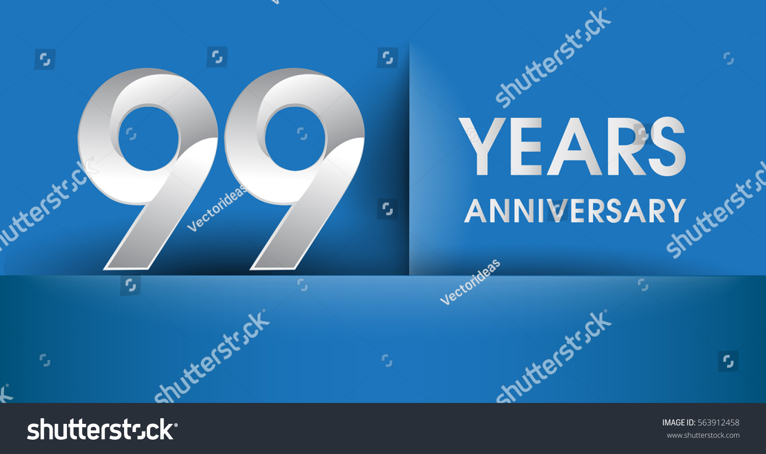 99 years anniversary celebration logo flat stock vector 563912458 99 years anniversary celebration logo flat design isolated on blue background vector elements for stopboris Image collections