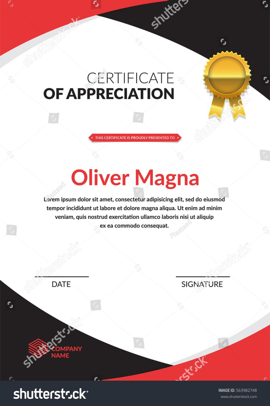 certificate appreciation template cool geometric design
