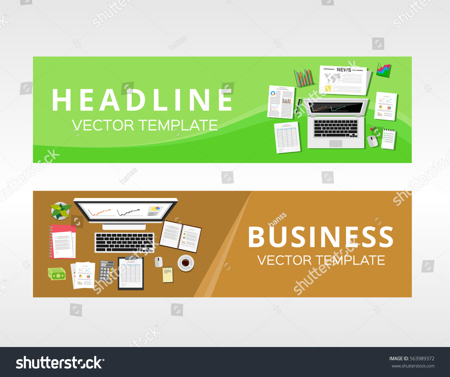 Business Solution Business Service Design Template Stock Vector ...