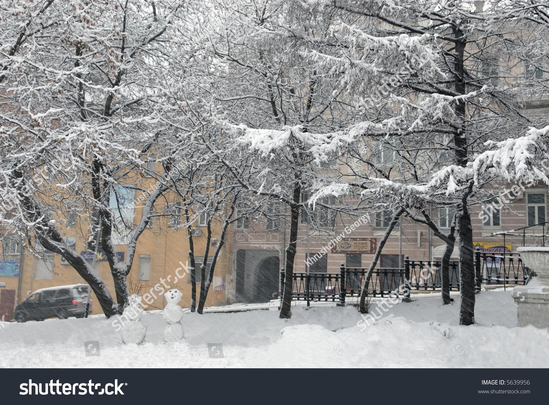 Russia City Snow