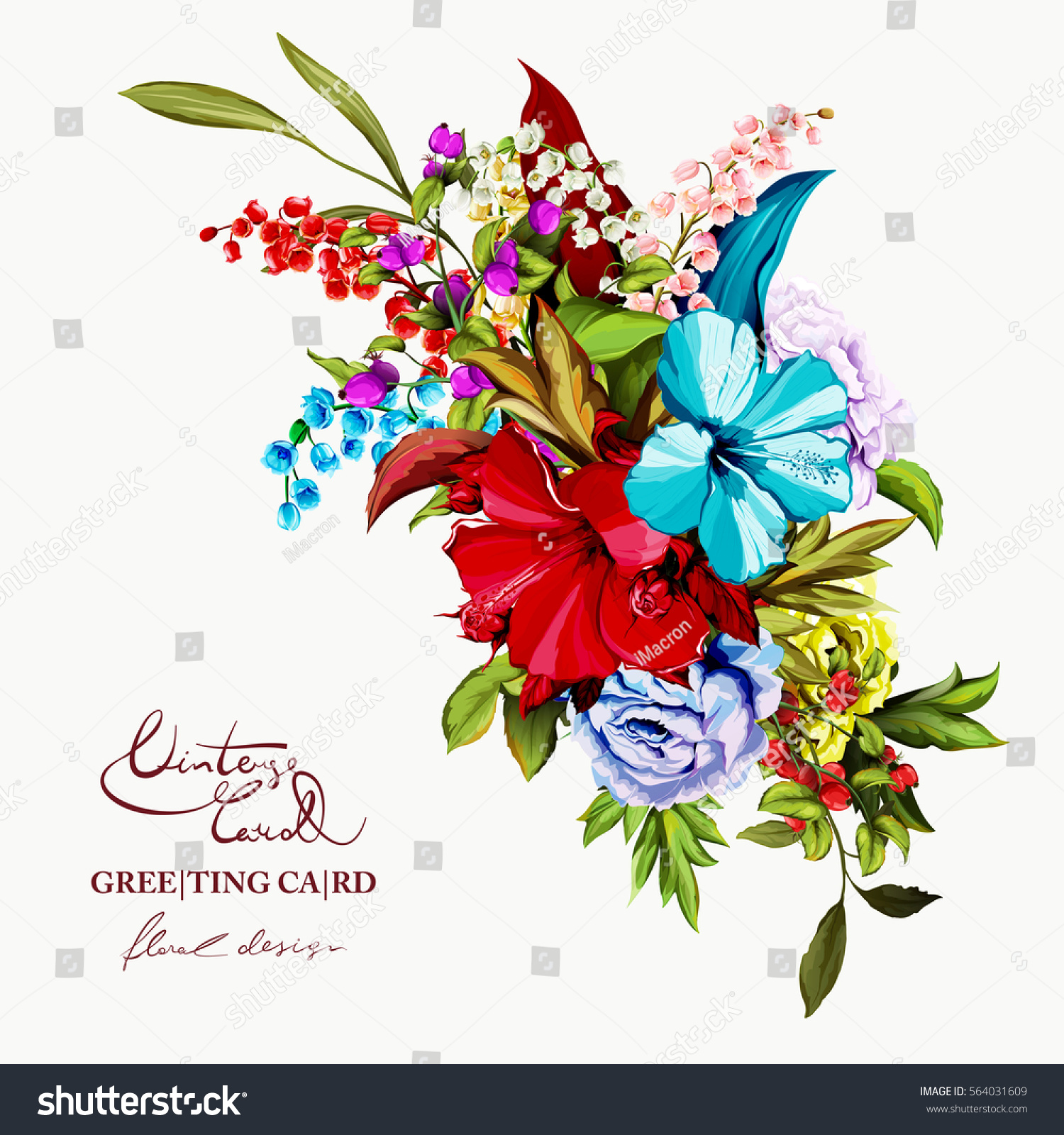 Cute dog flower bouquet photos images for wedding gown ideas flowers bouquet roses peony lily valley stock vector 564031609 izmirmasajfo Gallery