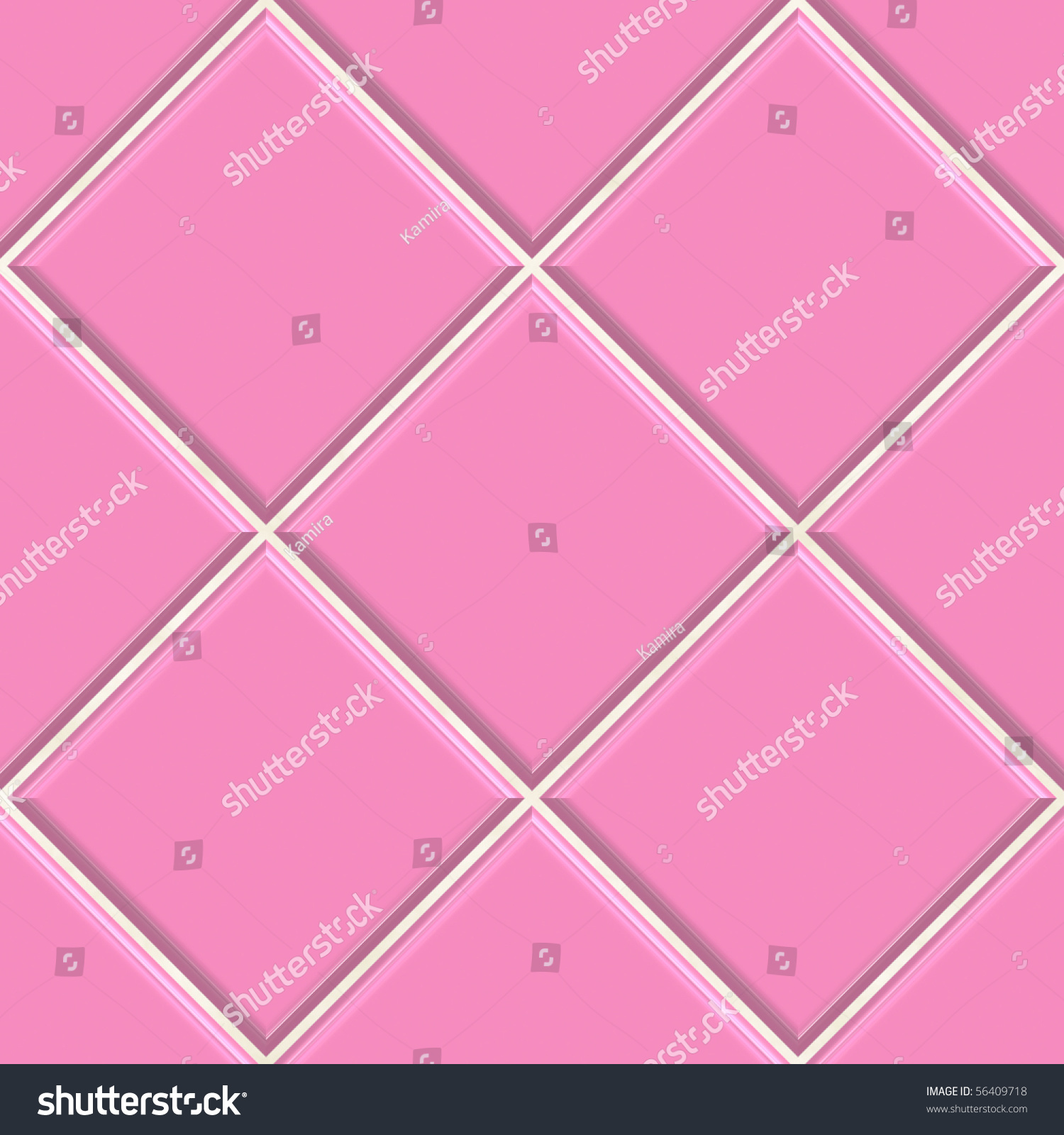 Seamless Pink Tiles Texture Background Kitchen Or Bathroom Concept