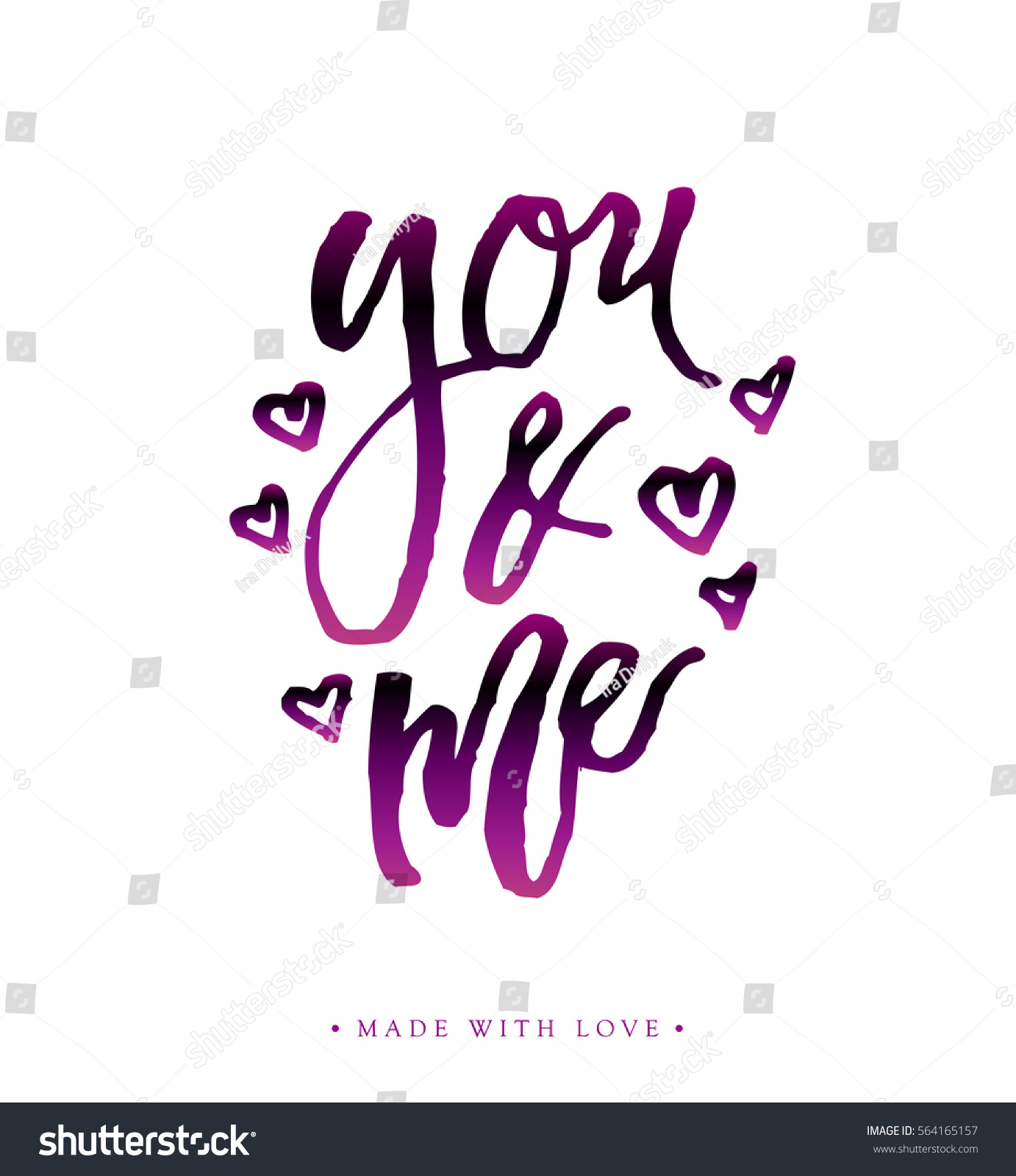 You and me love calligraphy valentines day romantic greeting card id 564165157 m4hsunfo