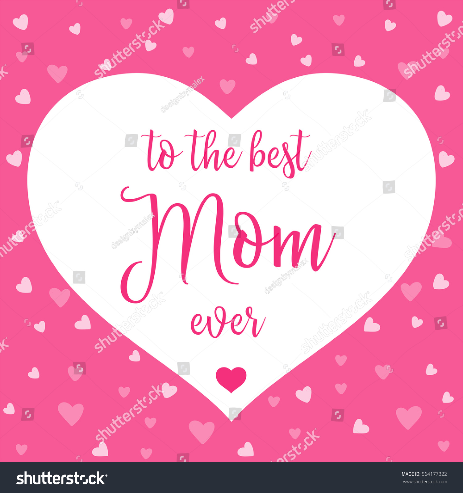 Best Mom Ever Mother Day Card Stock Vector 564177322 ...