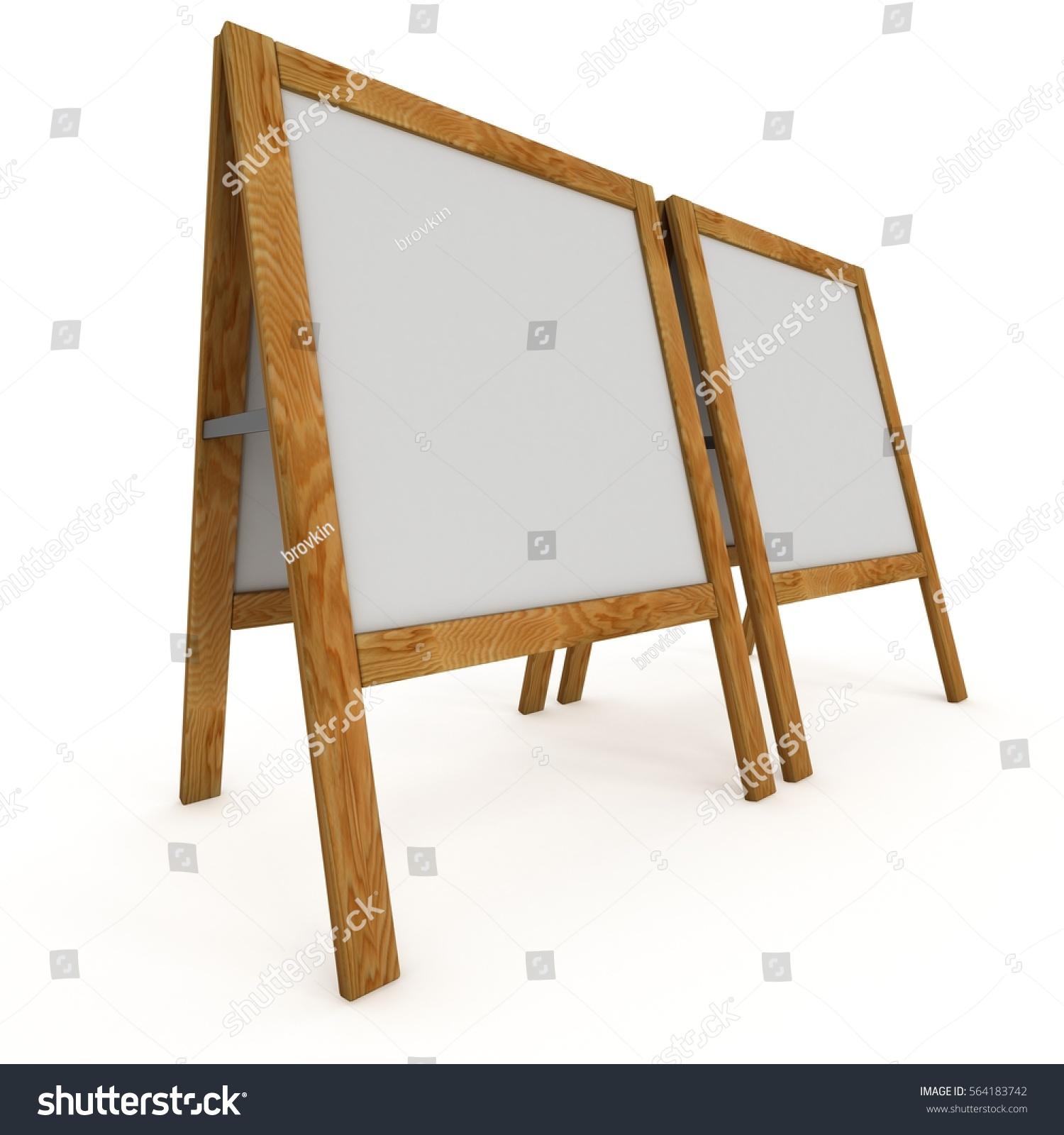 Sandwich Board Blank Menu Outdoor Display Stock Illustration ...