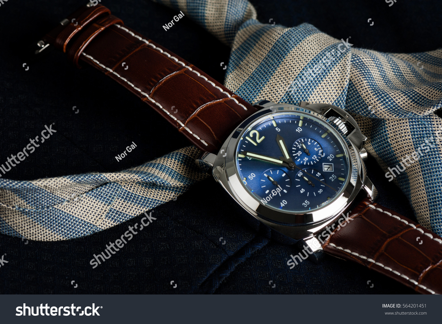 clasp buy montredo breitling strap crocodile chronograph navitimer en watches blue leather folding