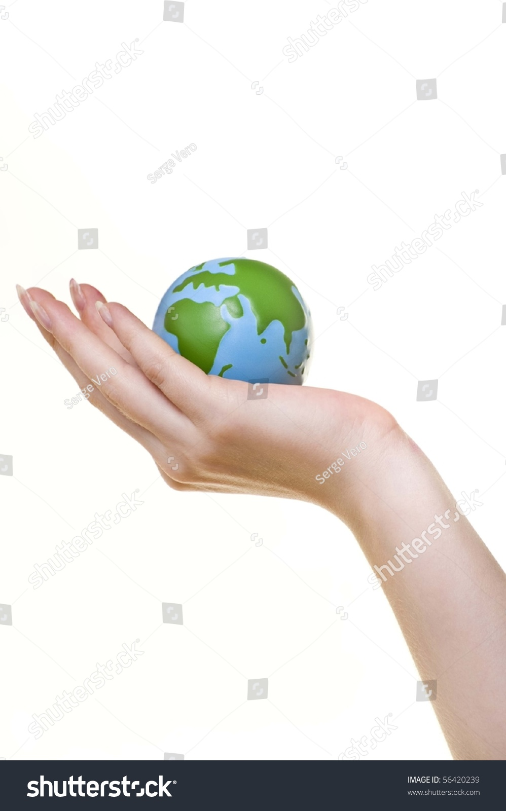 closeup girls hand holding small earth stock photo (edit now Ear Anatomy Diagram close up of a girl\u0027s hand holding small earth ball against white background