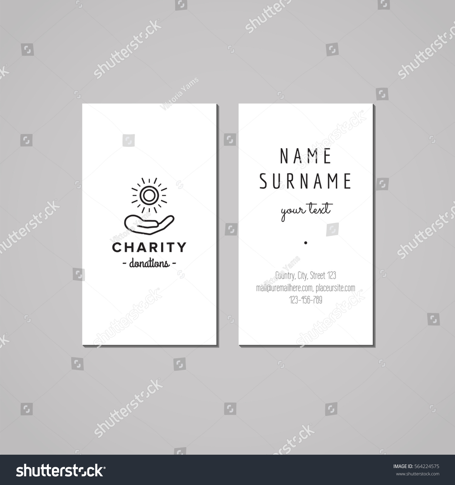 Donations Charity Business Card Design Concept Stock Vector HD ...