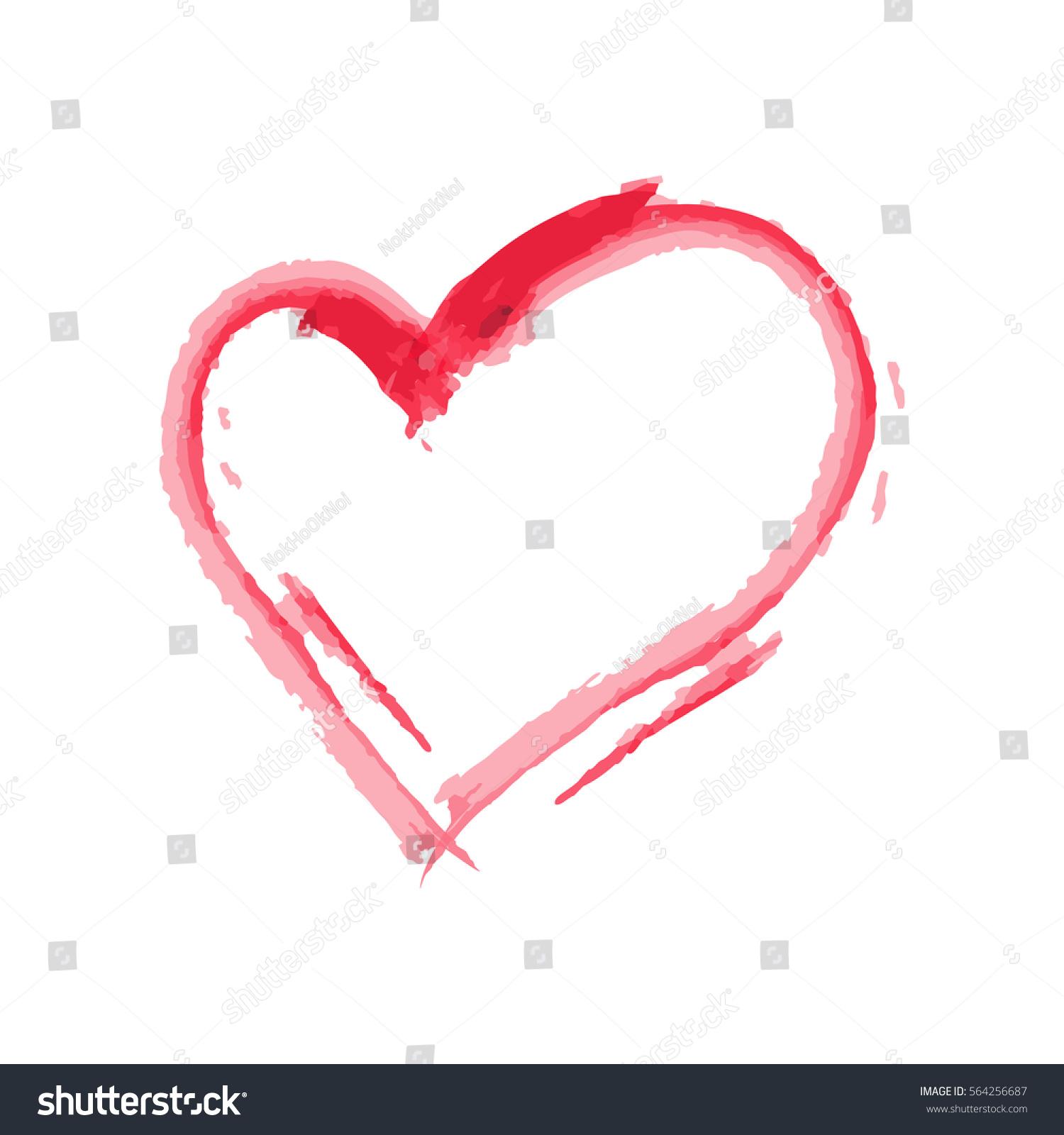 Heart Shape Design Love Symbols Valentines Stock Vector Royalty
