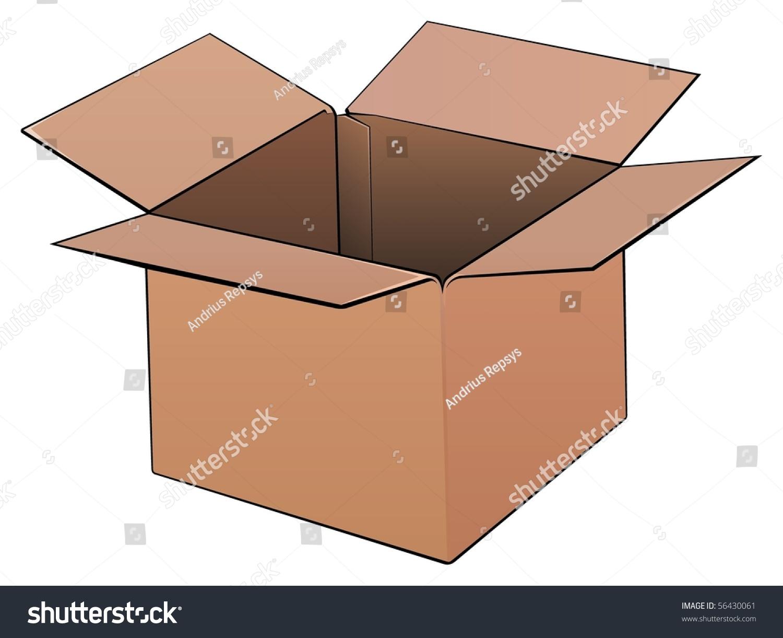 Shipping Box Stock Vector 56430061 - Shutterstock