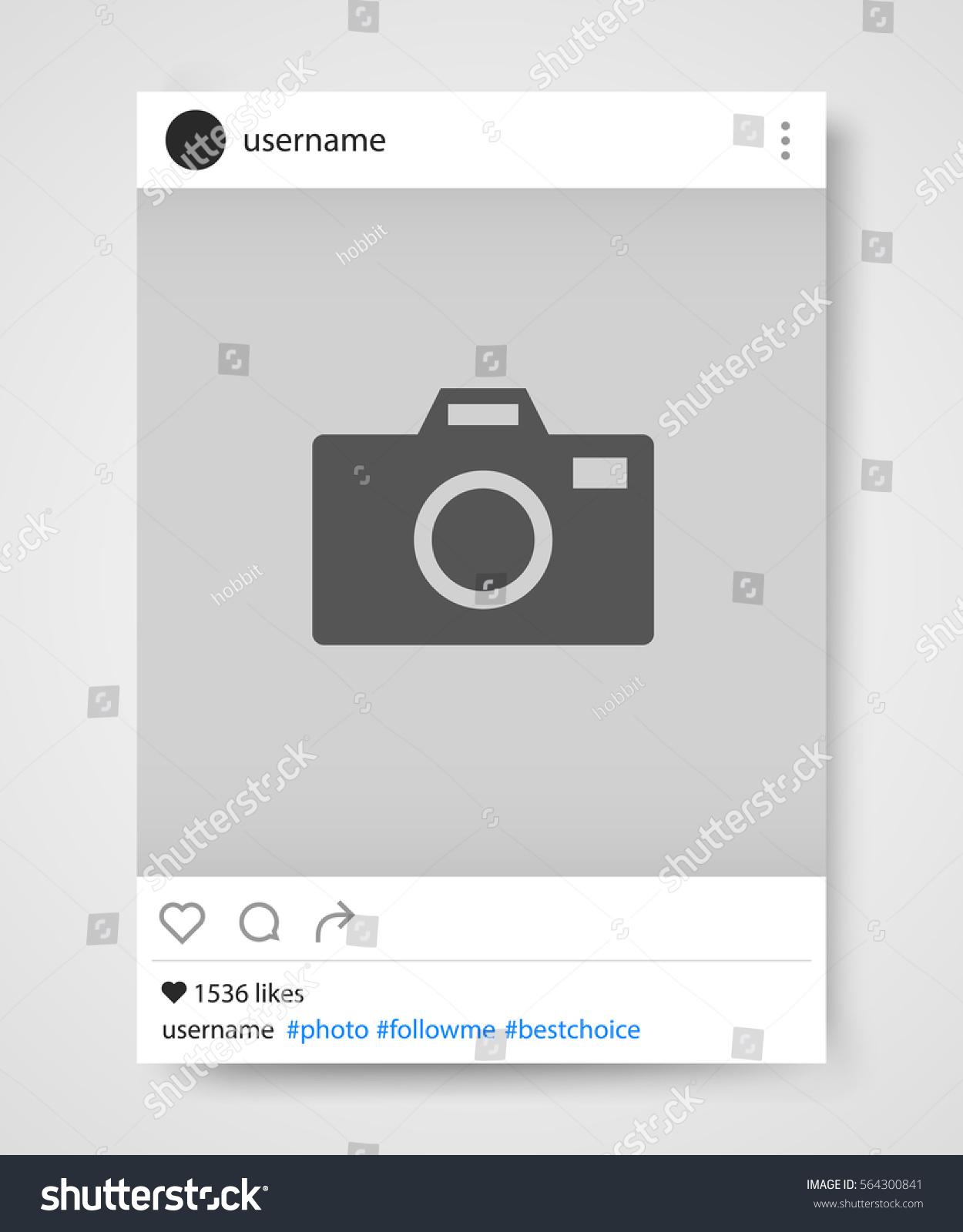 Vector Illustration Instagram: Social Network Photo Frame Instagram Vector Stock Vector
