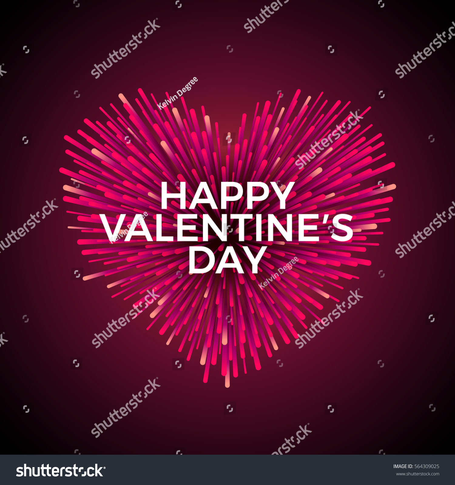 Vector Heart Shaped Firework Red Vivid Stock Vector (Royalty Free ...