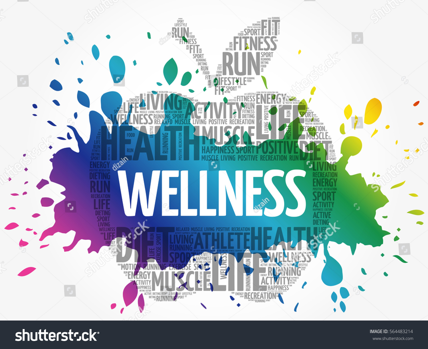 Wellness background  Wellness Apple Word Cloud Collage Health Stock Vector 564483214 ...