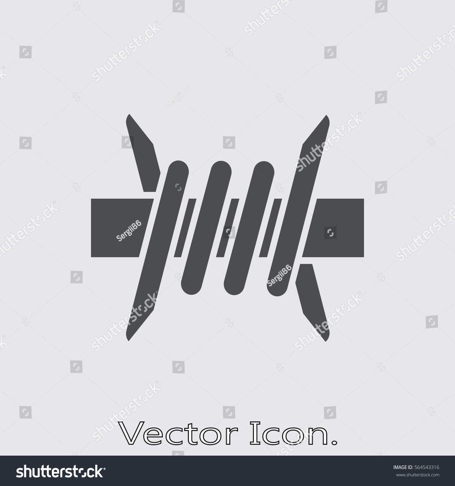Barbed Wire Icon Isolated Sign Symbol Stock Vector 564543316 ...