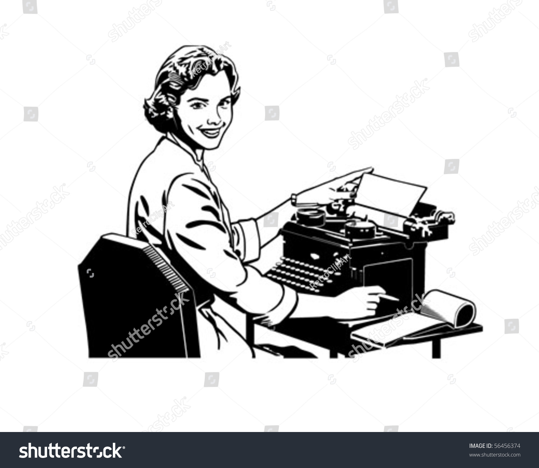 secretary clipart black and white retro secretary retro clip art