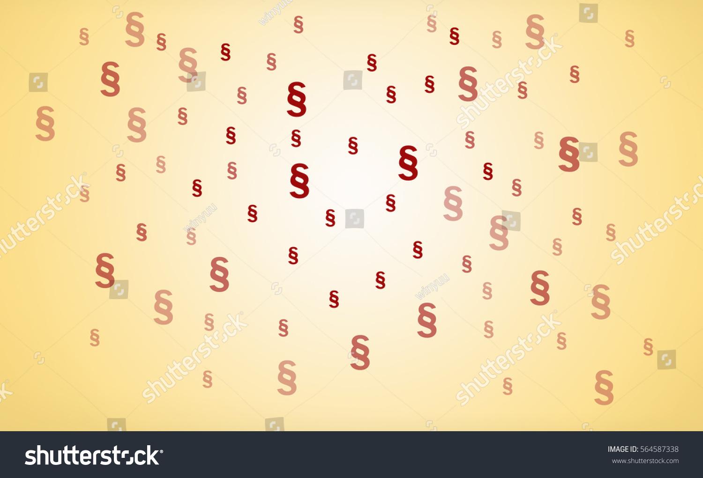 Many Red Paragraph Symbols On Beige Stock Illustration 564587338