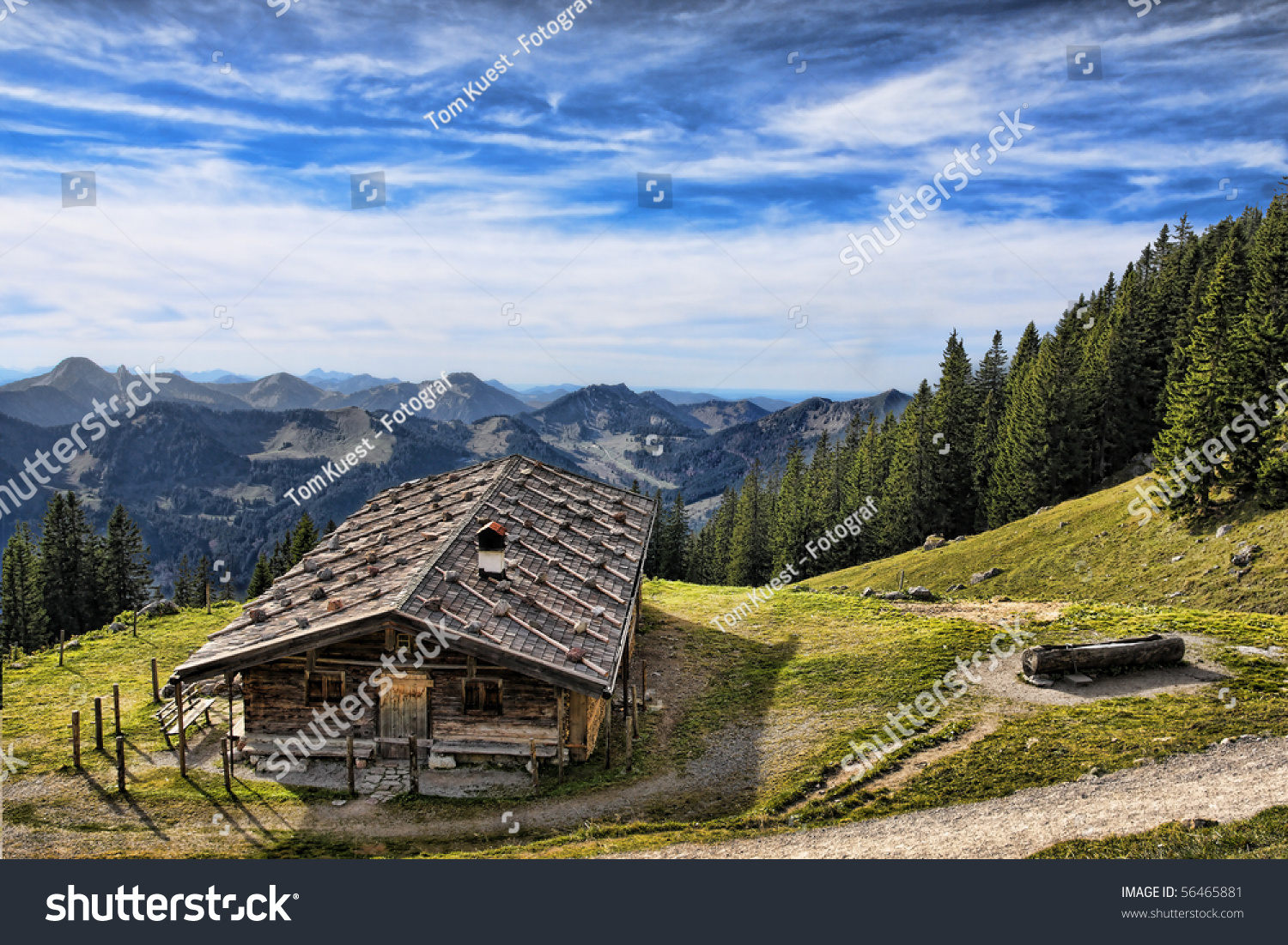 Cottage in the mountains stock photo 56465881 shutterstock for Cottage in the mountains