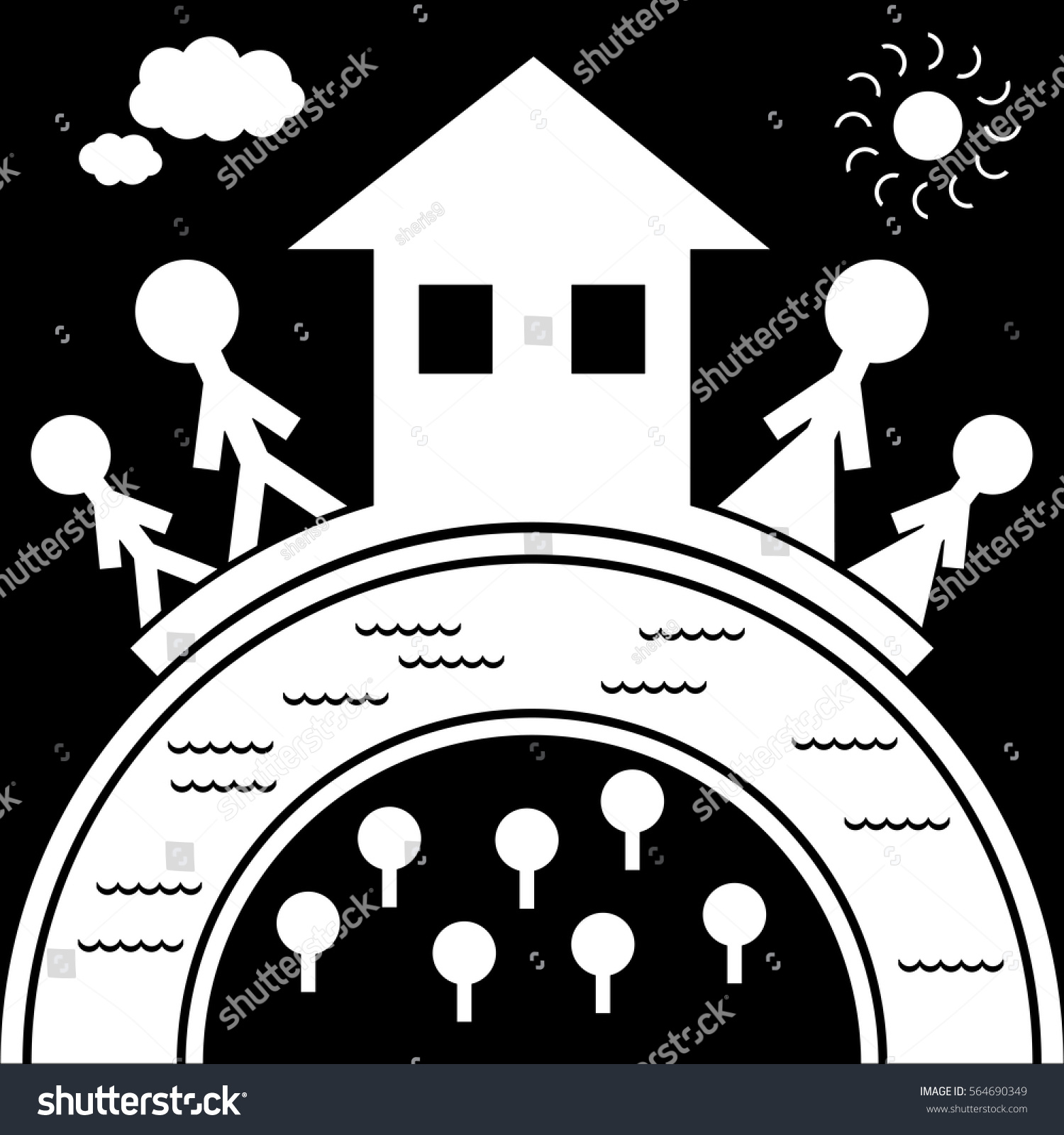 Family love house basis family happiness stock vector 564690349 family love and house is the basis of family happiness it is symbol for buycottarizona