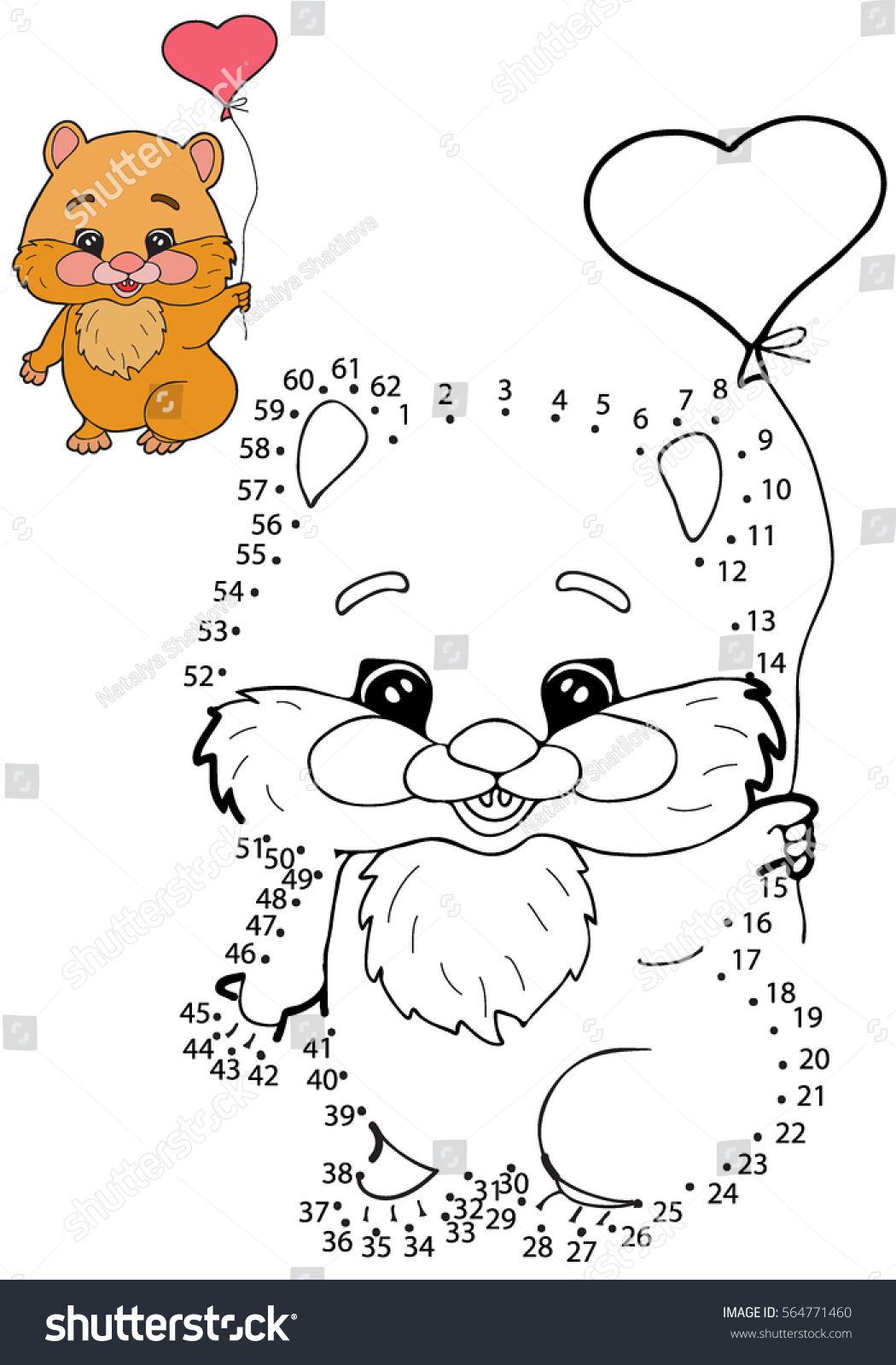 educational game children connect dots on stock vector 564771460