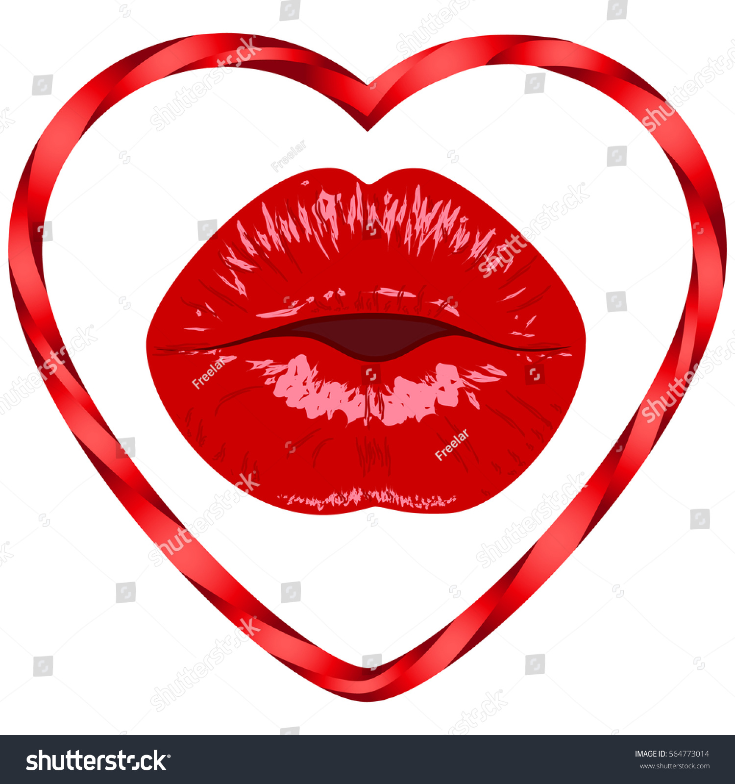 lips womenkissmouthheartvalentines day
