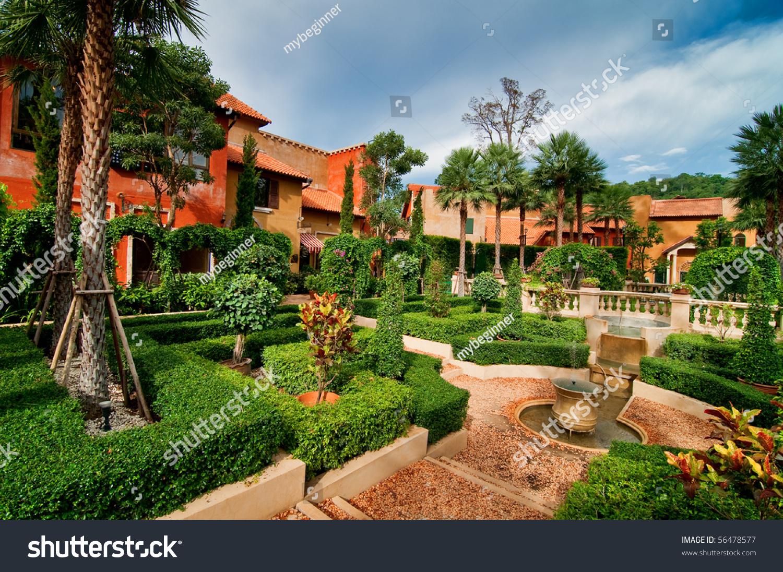 Spanish Style Garden Stock Photo 56478577 Shutterstock